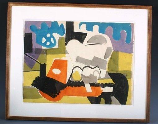 151: Robert Blackburn Abstract Watercolor