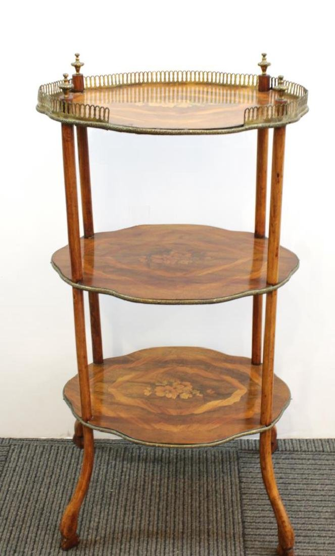 French Louis XVI-Style Three-Tier Etagere Table