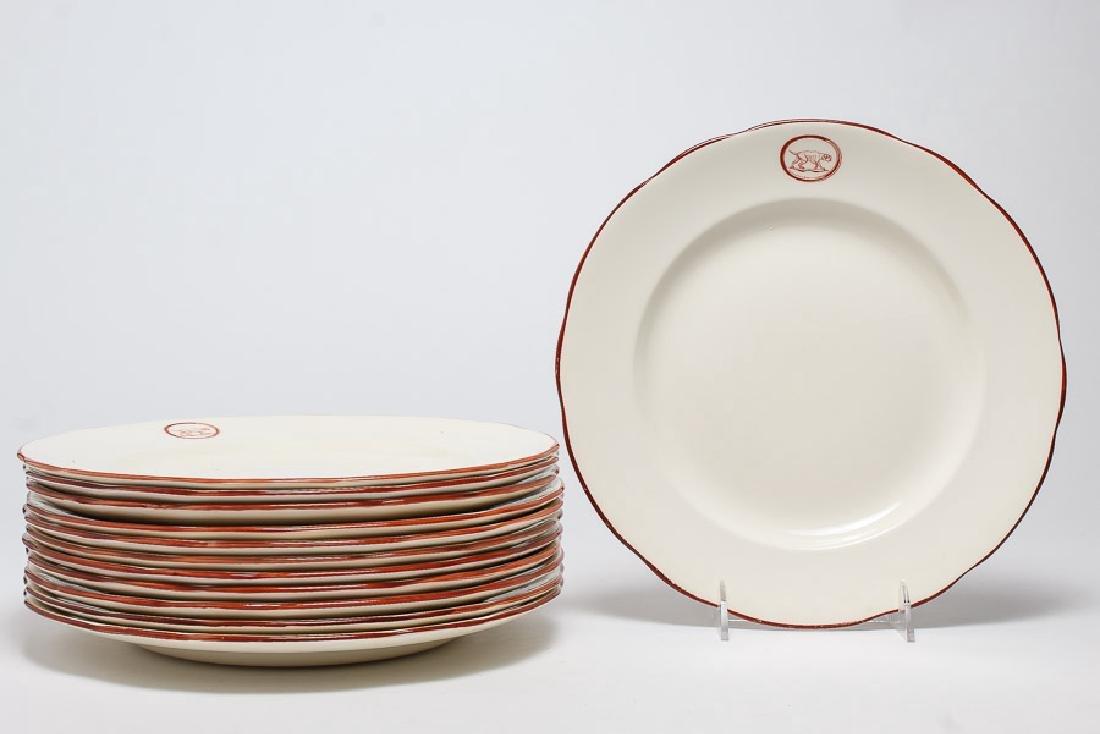 "William Yeoward Dinner Plates, ""Red Dog"" Set of 12"