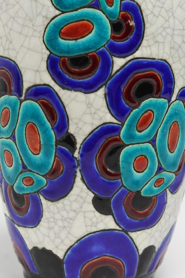 Art Deco Boch & Catteau la Louviere Ceramic Vase - 2