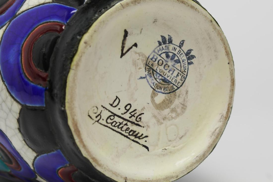 Art Deco Boch & Catteau la Louviere Ceramic Vase - 4
