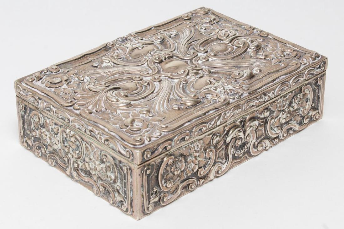 Portuguese Silver Trinket Box, Rococo-Style - 2