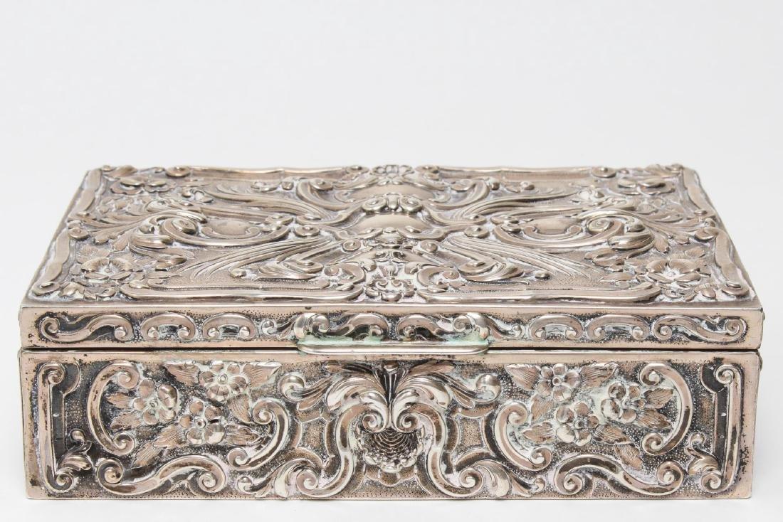 Portuguese Silver Trinket Box, Rococo-Style - 3