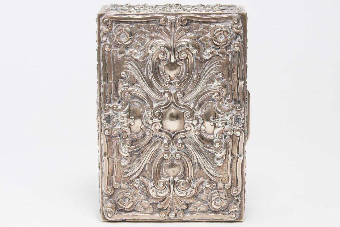 Portuguese Silver Trinket Box, Rococo-Style - 4