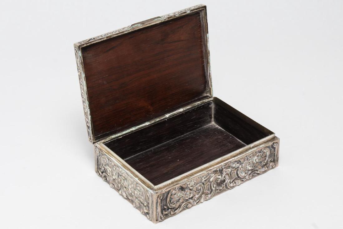 Portuguese Silver Trinket Box, Rococo-Style - 5