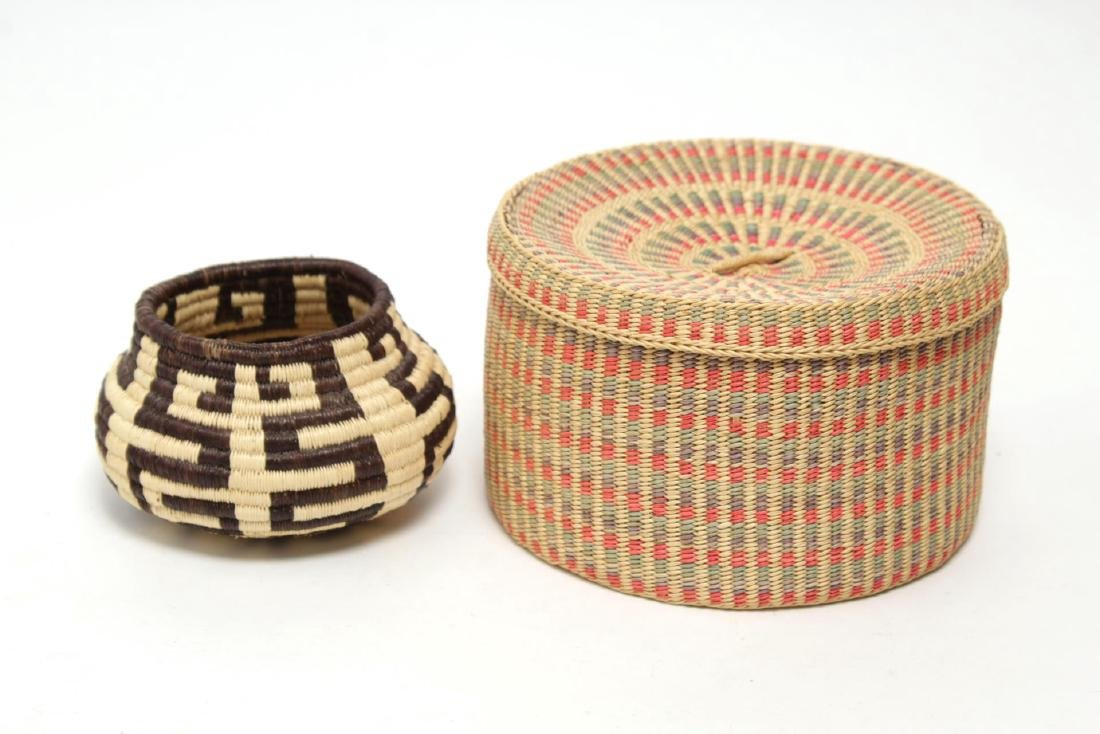 Native American Woven Storage Containers, 2