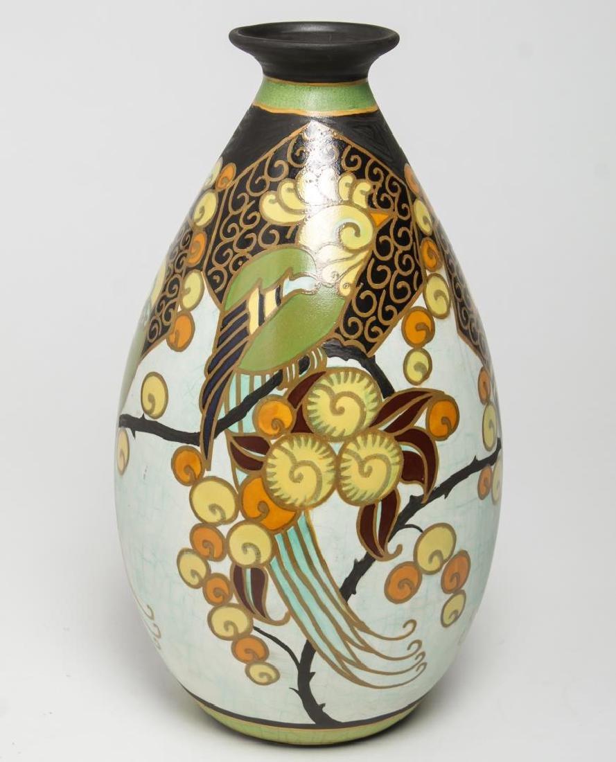 Art Deco Boch Freres Keramis Ceramic Vase, 1926