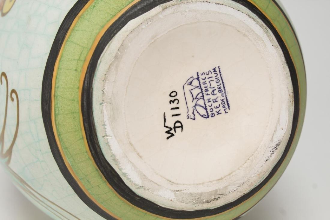 Art Deco Boch Freres Keramis Ceramic Vase, 1926 - 3