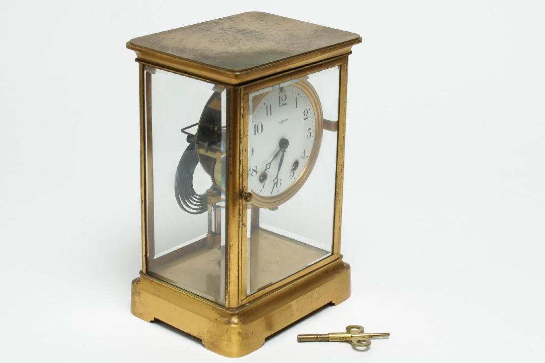 William Wise & Son Gilt Brass Mantel Clock, 20th C - 2