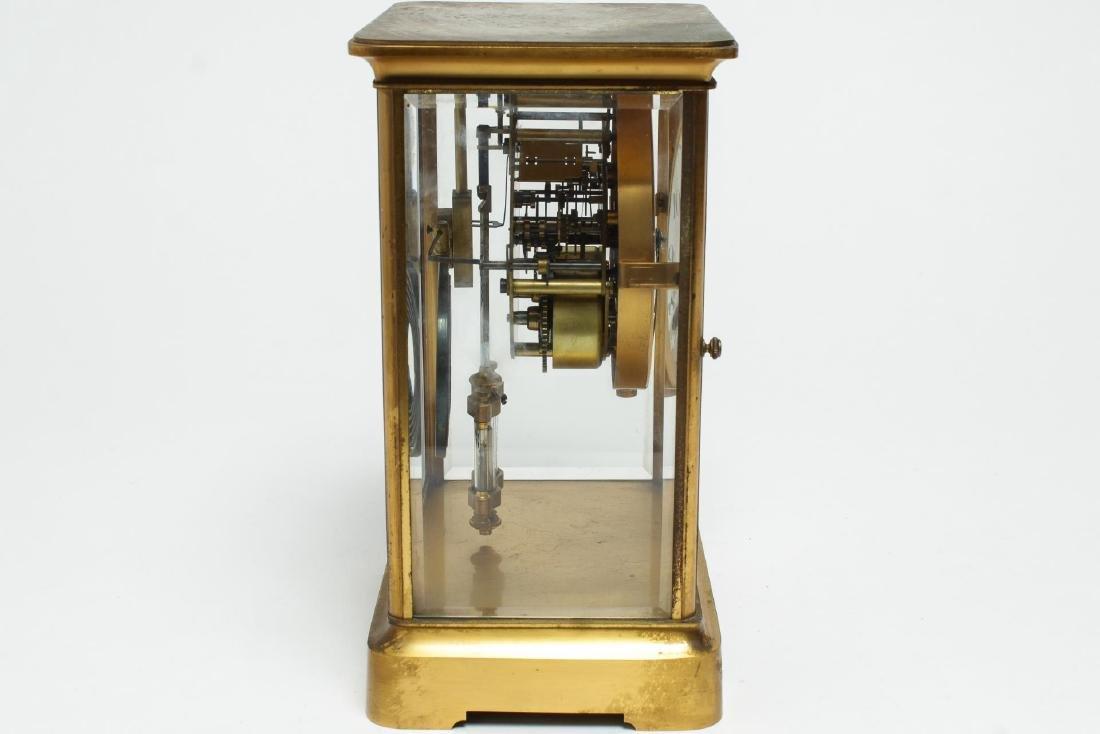 William Wise & Son Gilt Brass Mantel Clock, 20th C - 4