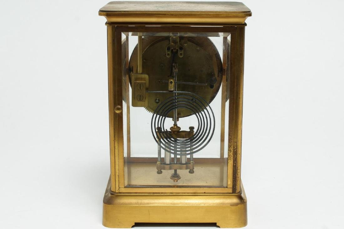 William Wise & Son Gilt Brass Mantel Clock, 20th C - 5