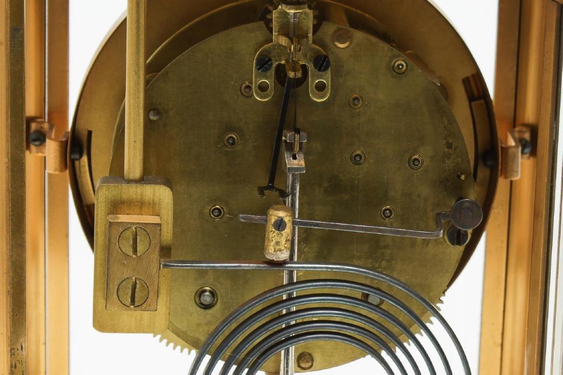William Wise & Son Gilt Brass Mantel Clock, 20th C - 6