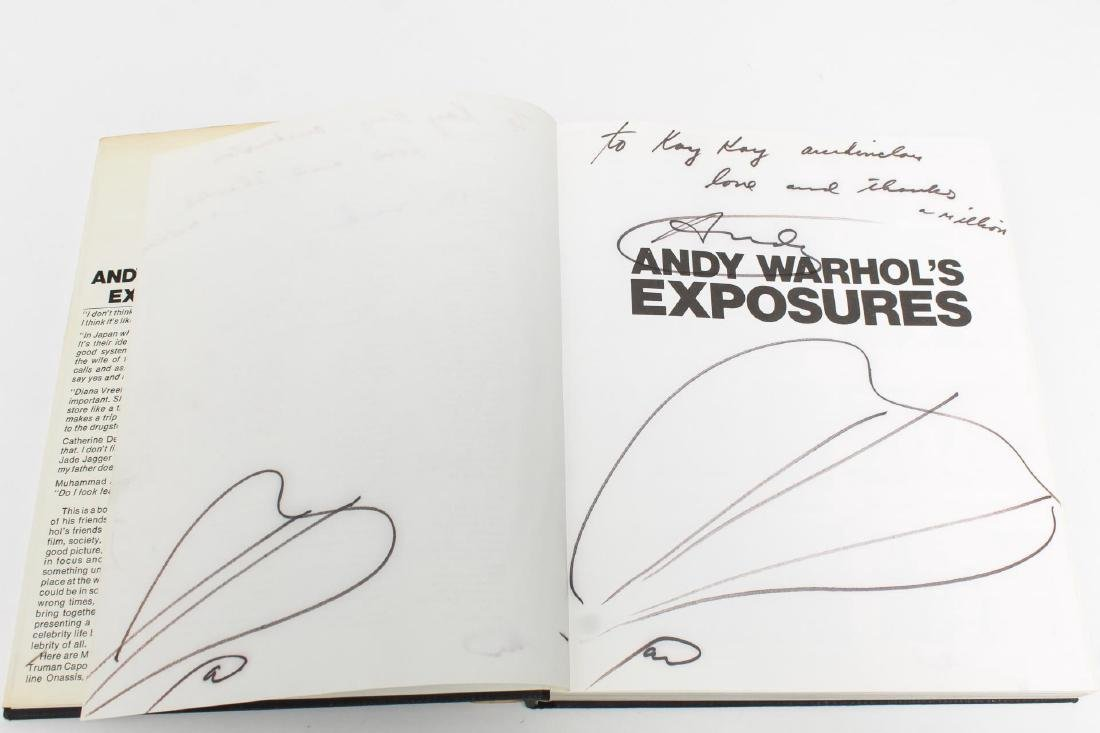 """""""Andy Warhol's Exposures,"""" Signed First Edition - 2"""