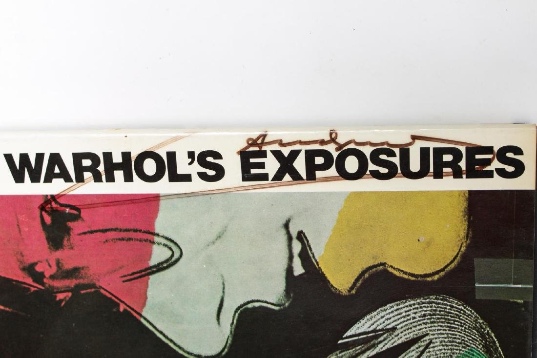 """""""Andy Warhol's Exposures,"""" Signed First Edition - 3"""