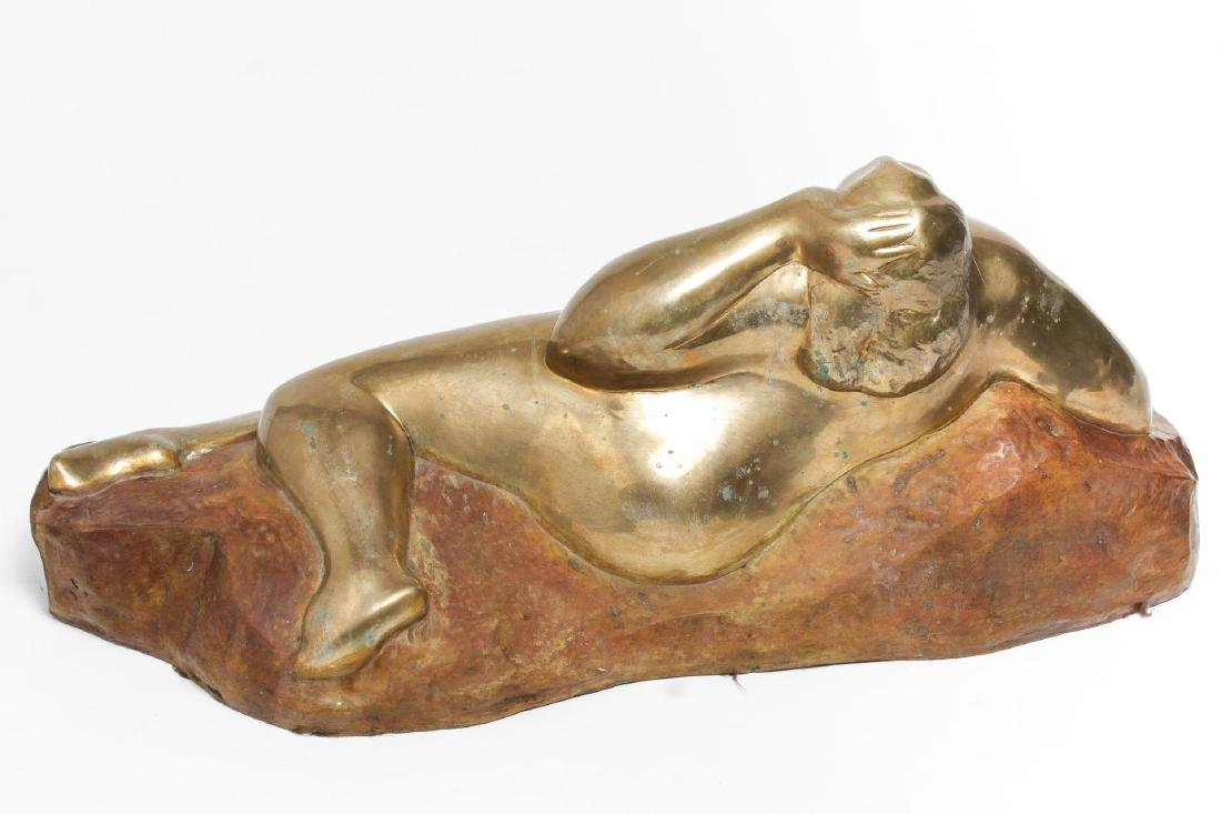 Signed Gaston Lachaise- Bronze Reclining Nude - 2