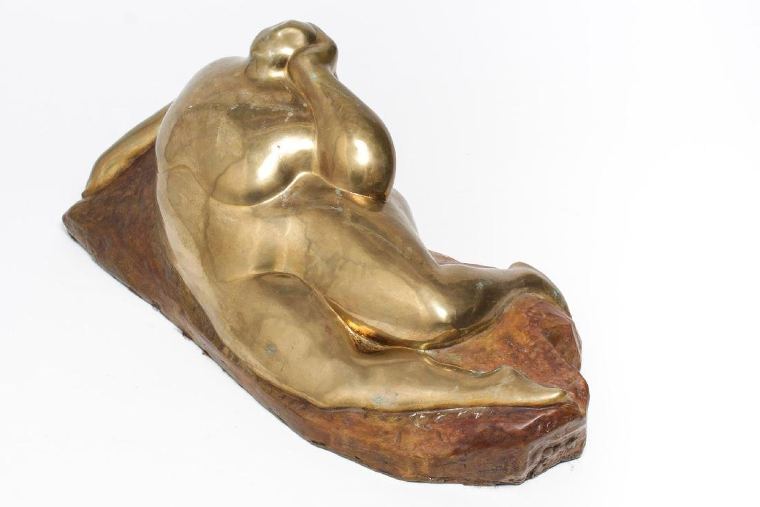 Signed Gaston Lachaise- Bronze Reclining Nude - 3