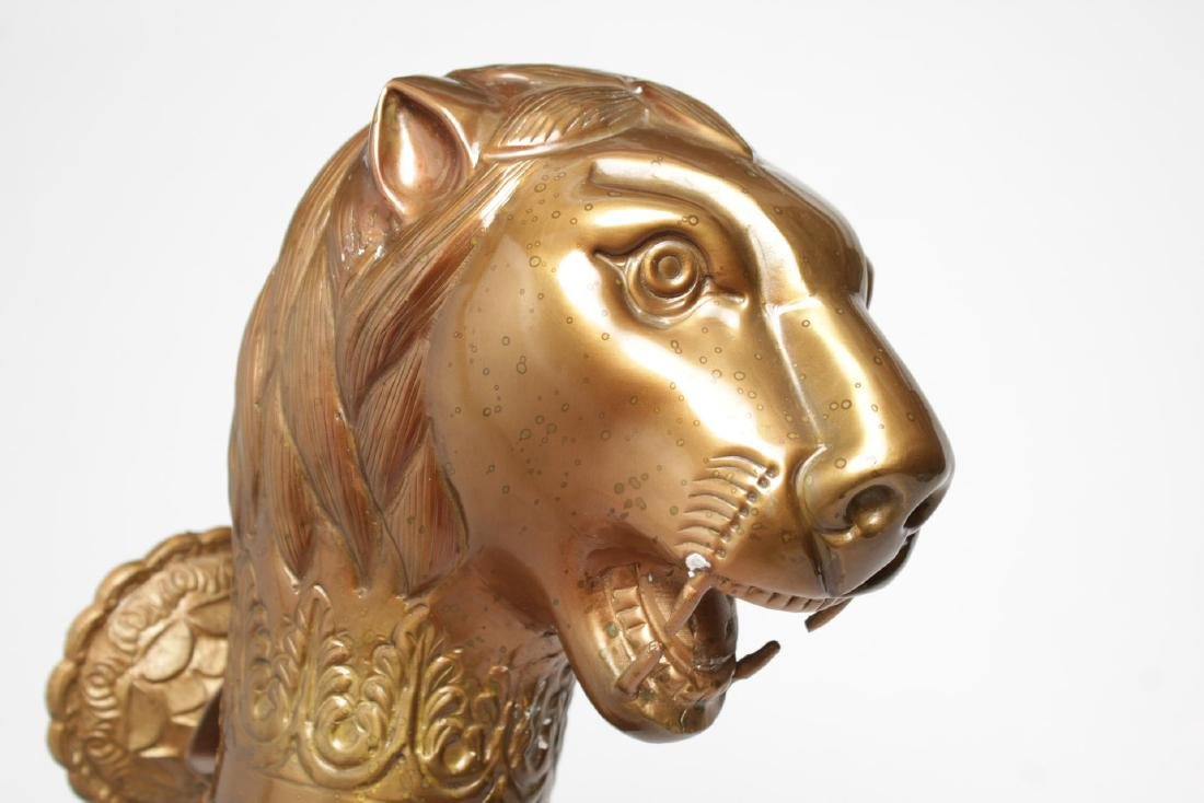 Asian School Brass Lion's Head Decorative Element - 4