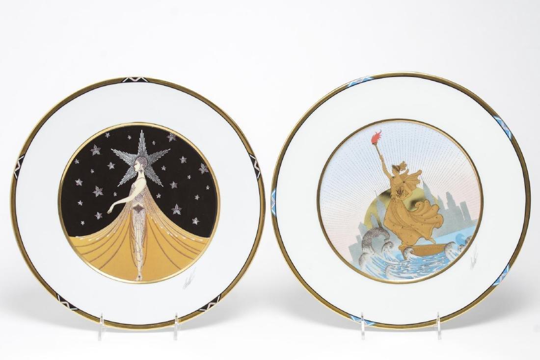 Erte Commemorative New York Porcelain Plates, 2