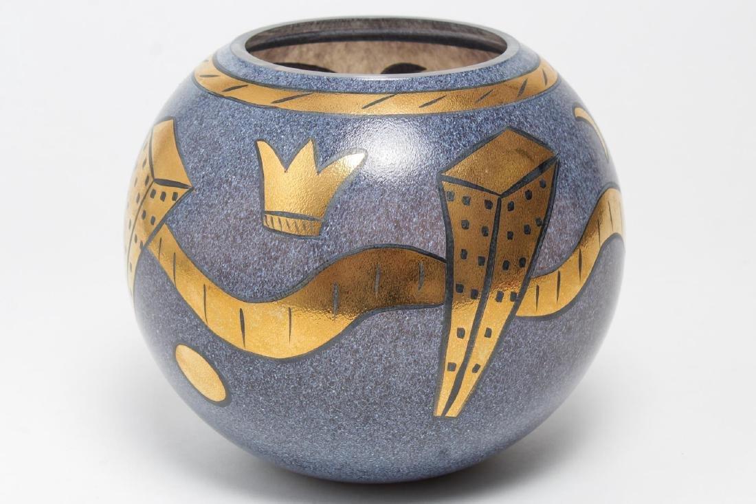 Kosta Boda Art Glass Vase, Ulrica Hydman-Vallien - 3