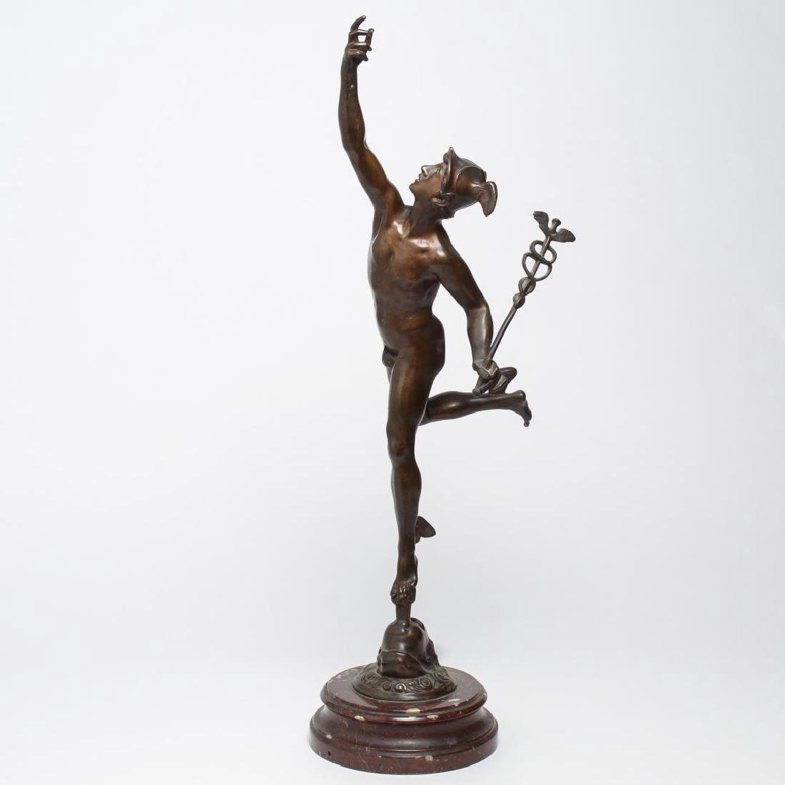 After Giambologna- Bronze Winged Mercury