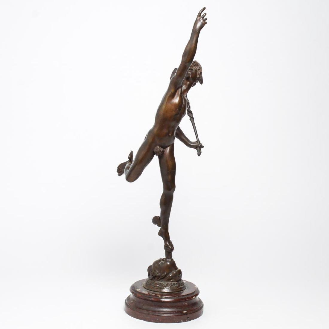 After Giambologna- Bronze Winged Mercury - 2