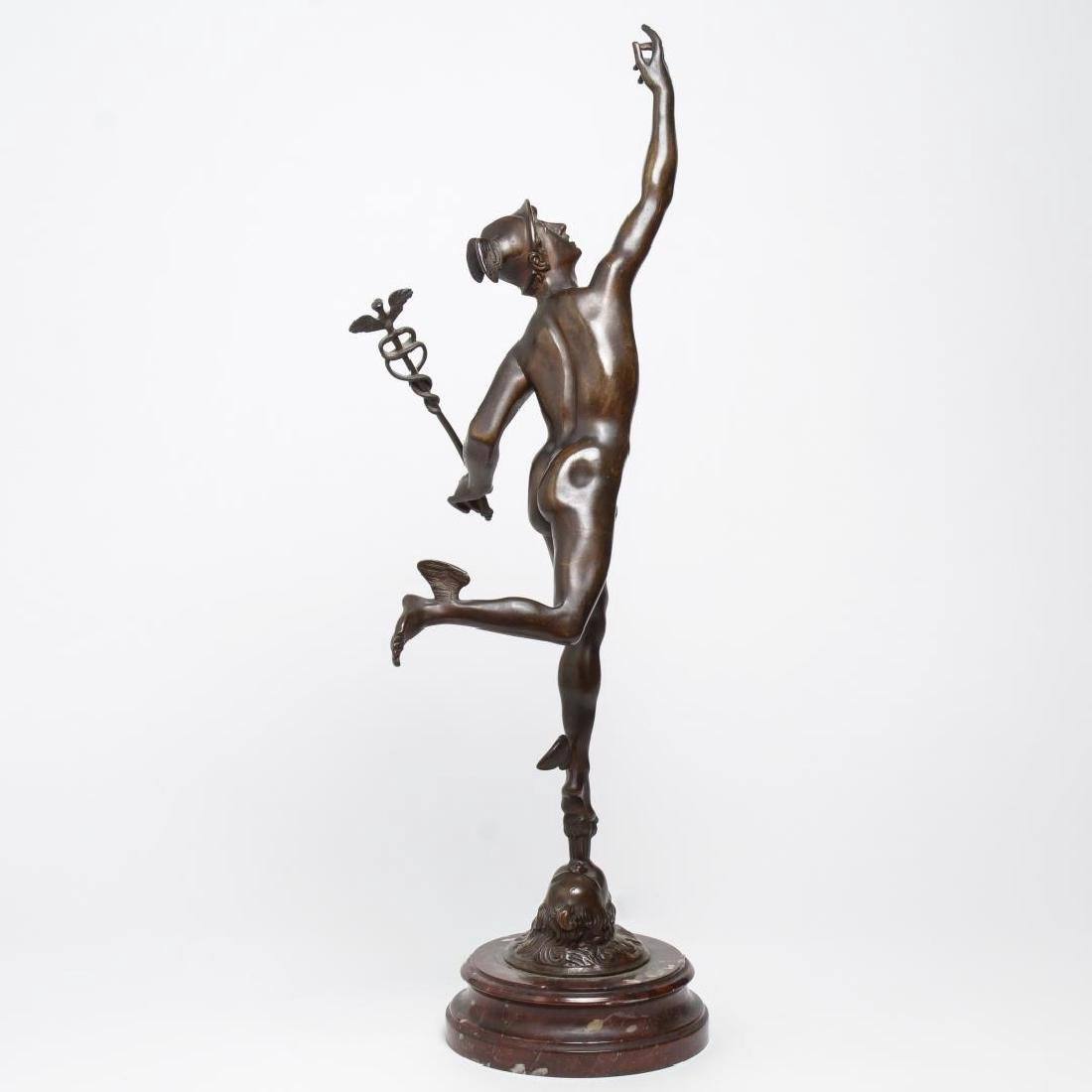 After Giambologna- Bronze Winged Mercury - 3