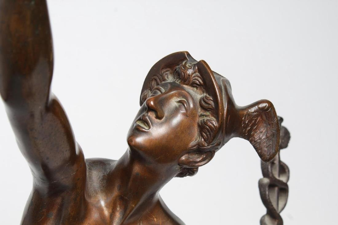After Giambologna- Bronze Winged Mercury - 5