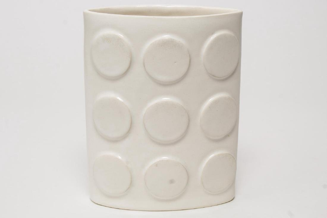 """Jonathan Adler """"Couture"""" Vase-Early White Abstract"""