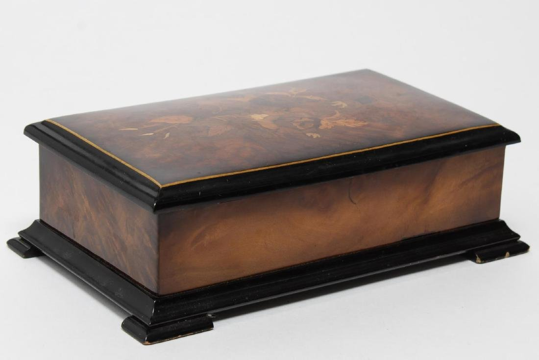 Reuge Swiss Music Box, Marquetry-Inlaid, 20th C - 3