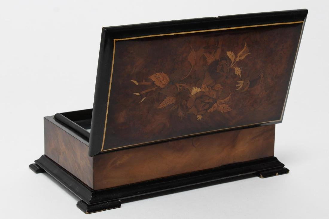 Reuge Swiss Music Box, Marquetry-Inlaid, 20th C - 4