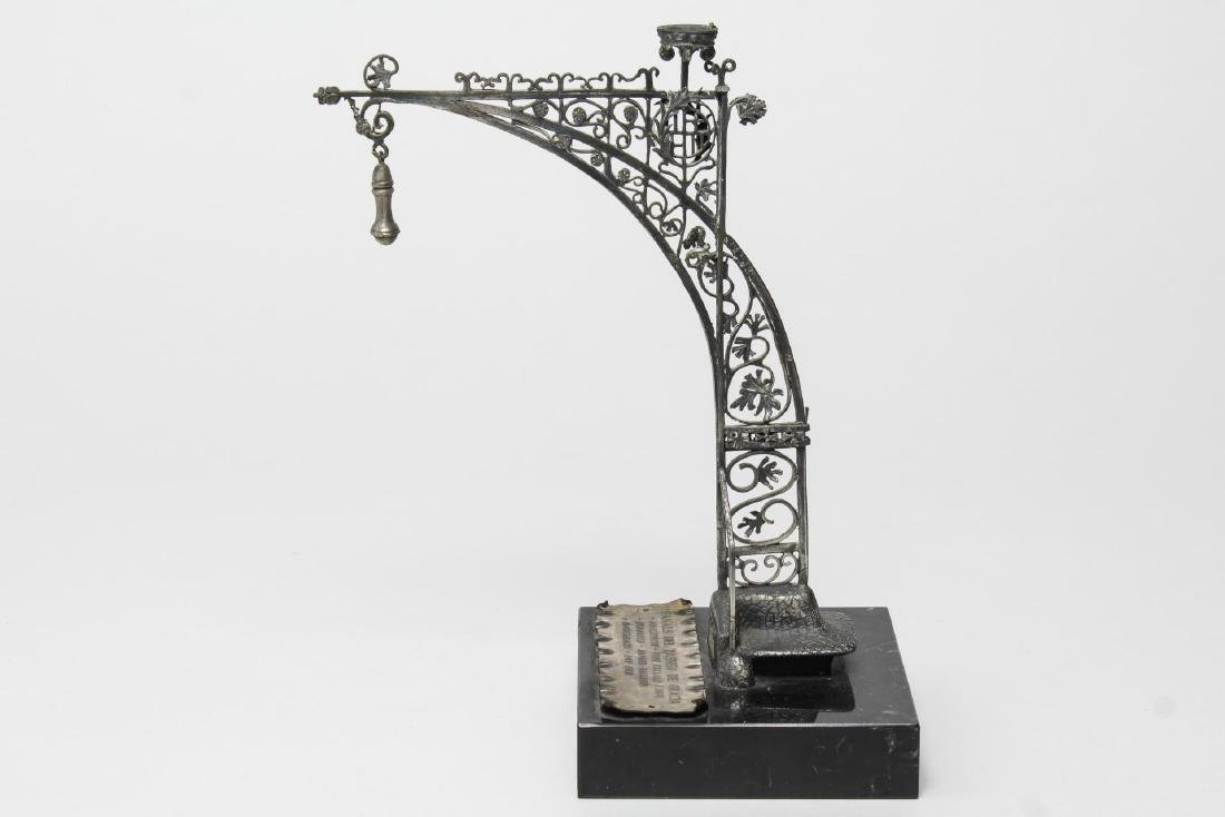 Barcelona Modernist Lamppost- Steel Maquette Model