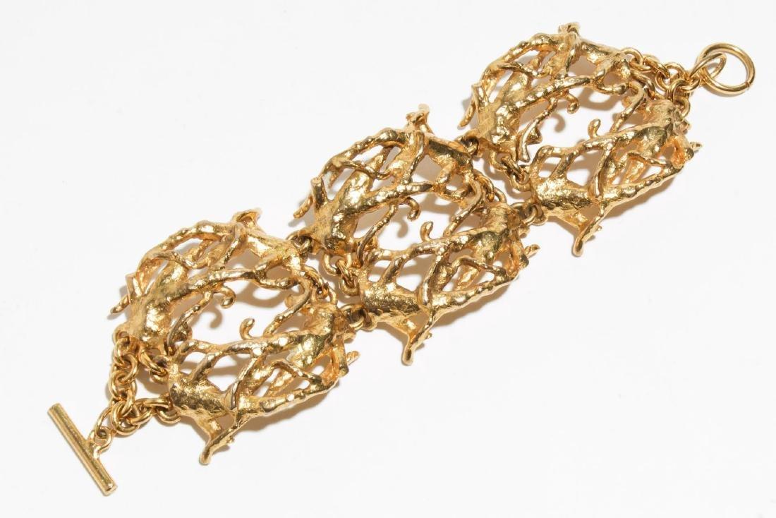 Lumen Paris Brutalist Costume Jewelry Bracelet