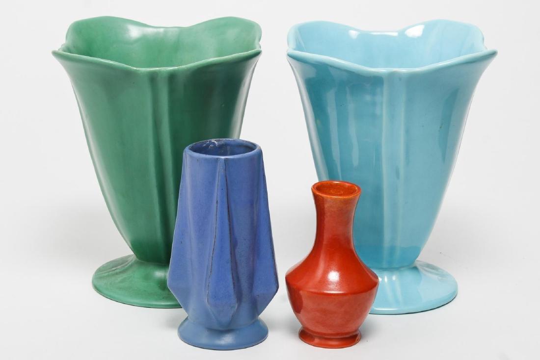 Art Deco Catalina California Art Pottery, 4 Vases