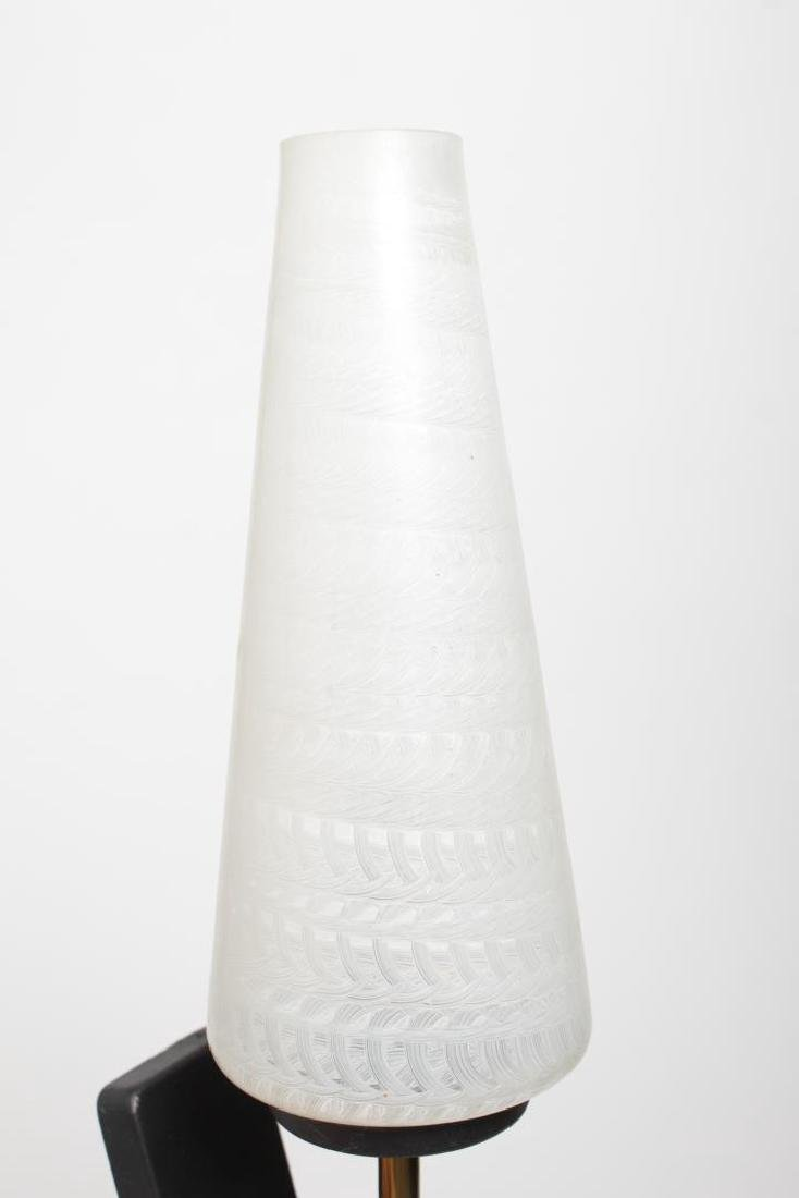 Mid-Century Modern Glass & Brass Sconces, Pair - 3