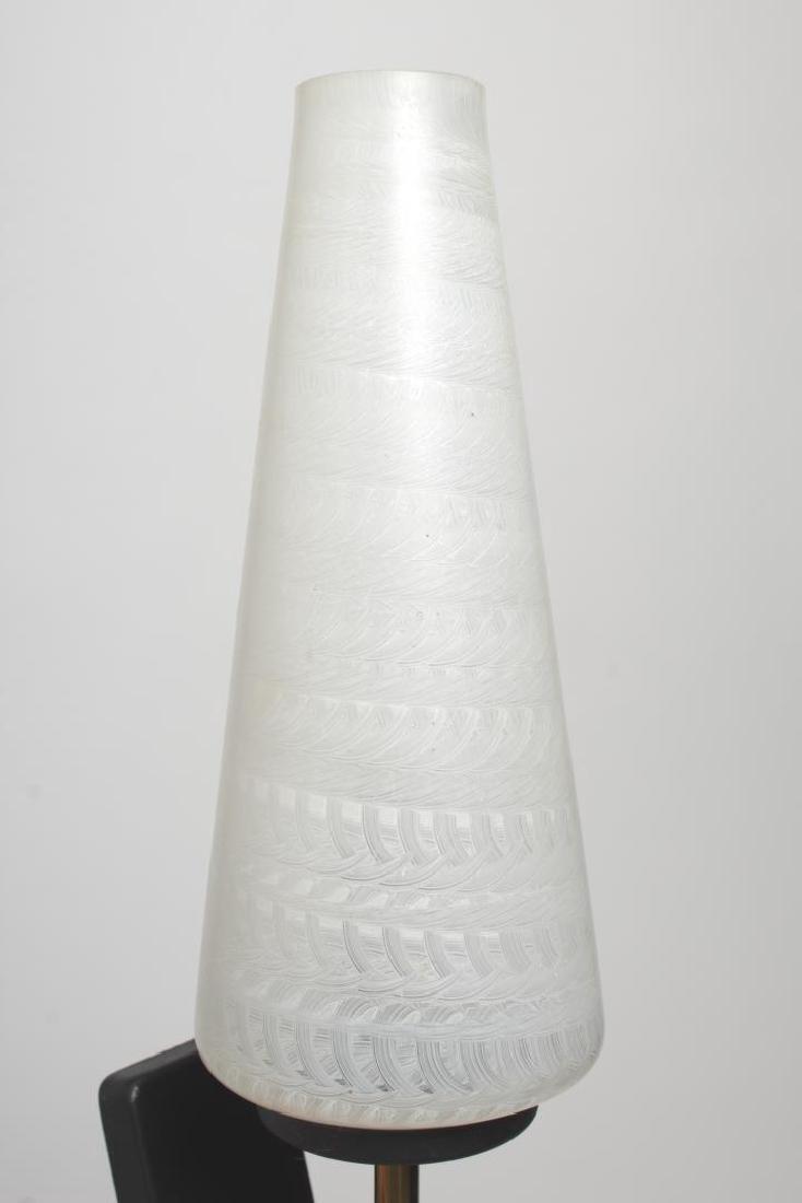 Mid-Century Modern Glass & Brass Sconces, Pair - 4