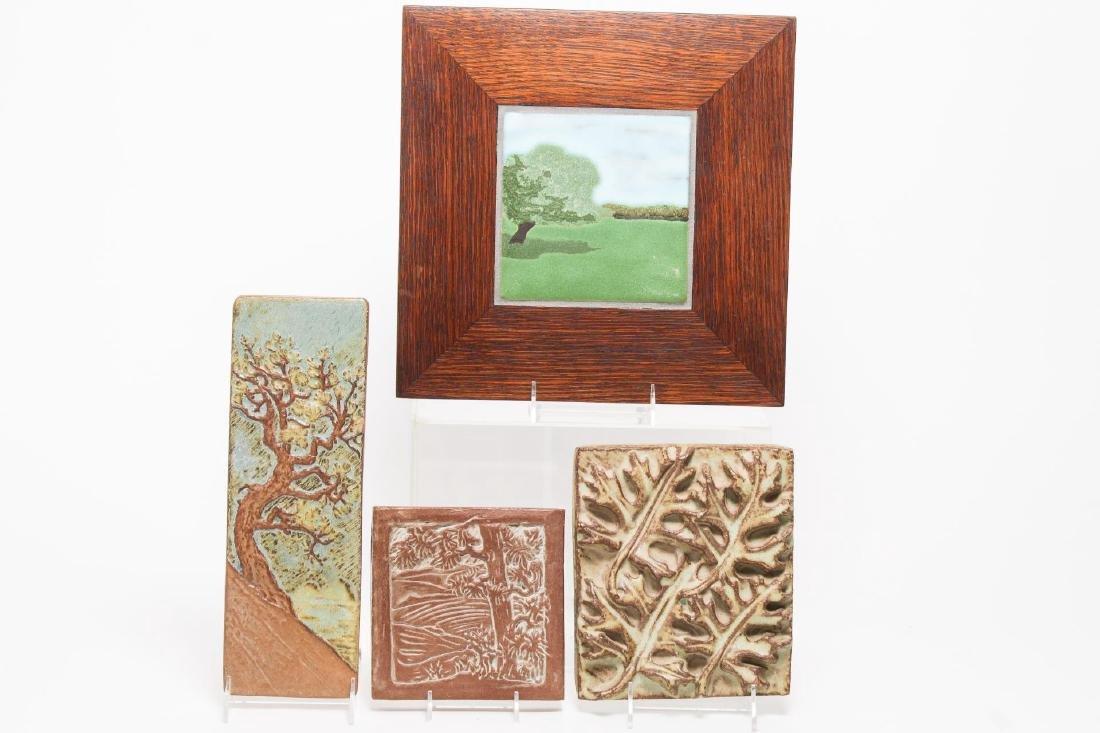California Arts & Crafts-Style Art Pottery Tiles