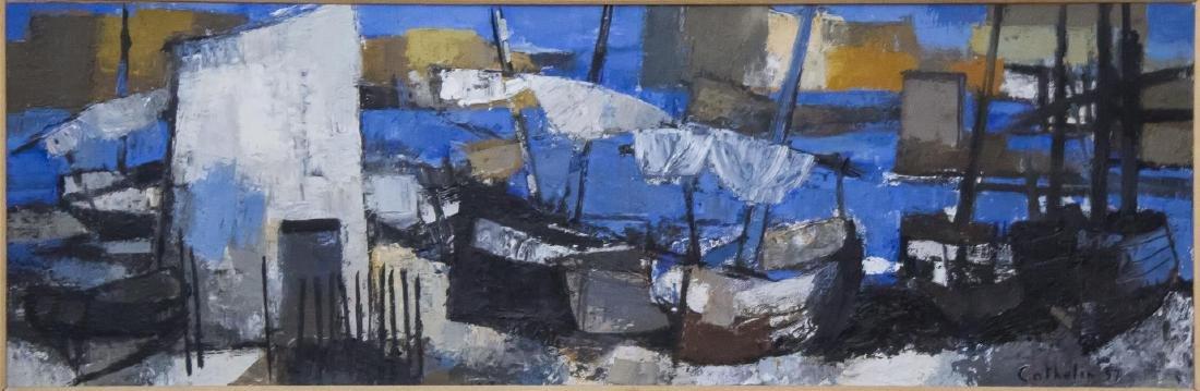 Bernard Cathelin (French, 1919-2004)- Oil