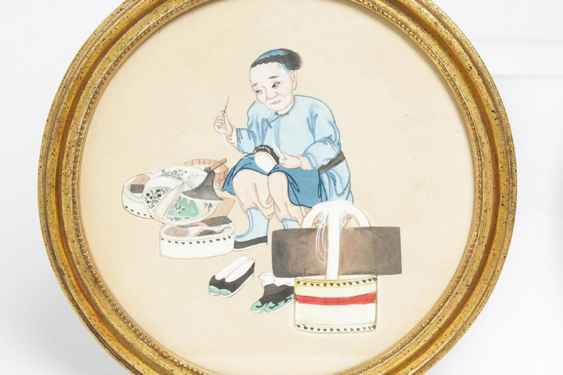 Chinese Export Pith Paper Watercolors, 19th C., 2 - 2