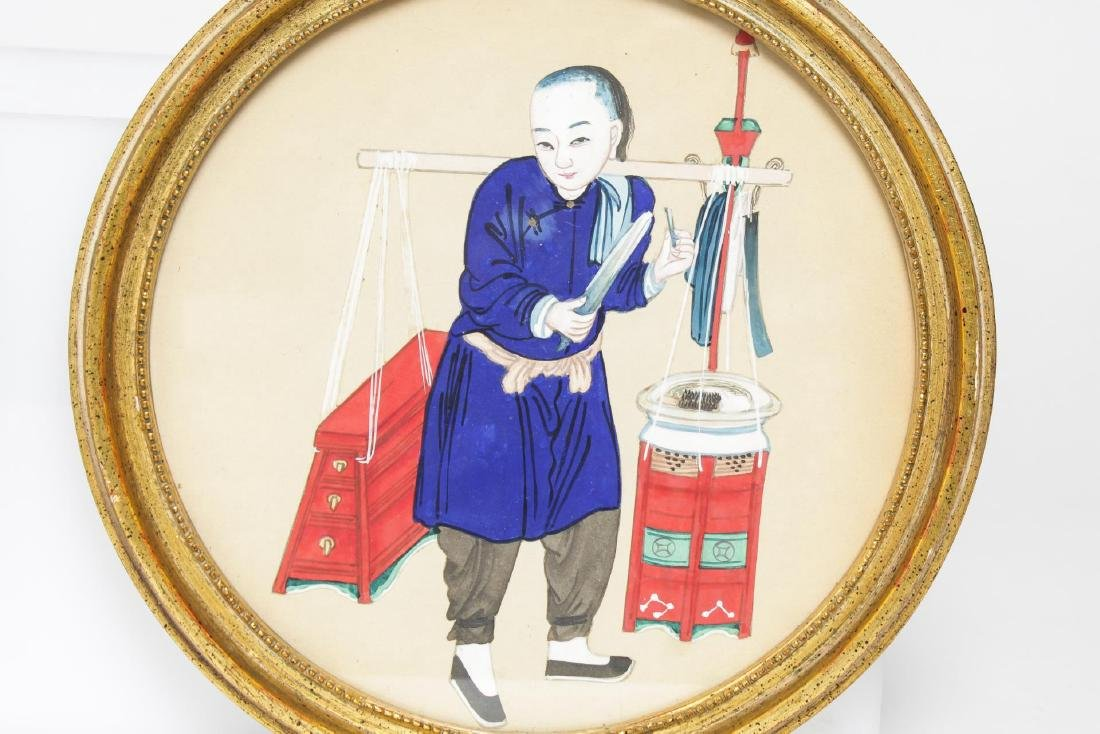 Chinese Export Pith Paper Watercolors, 19th C., 2 - 3