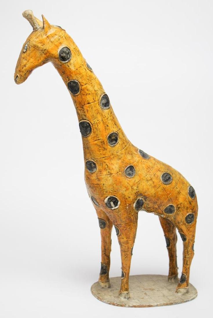 Large Mexican Papier Mache Giraffe Figure