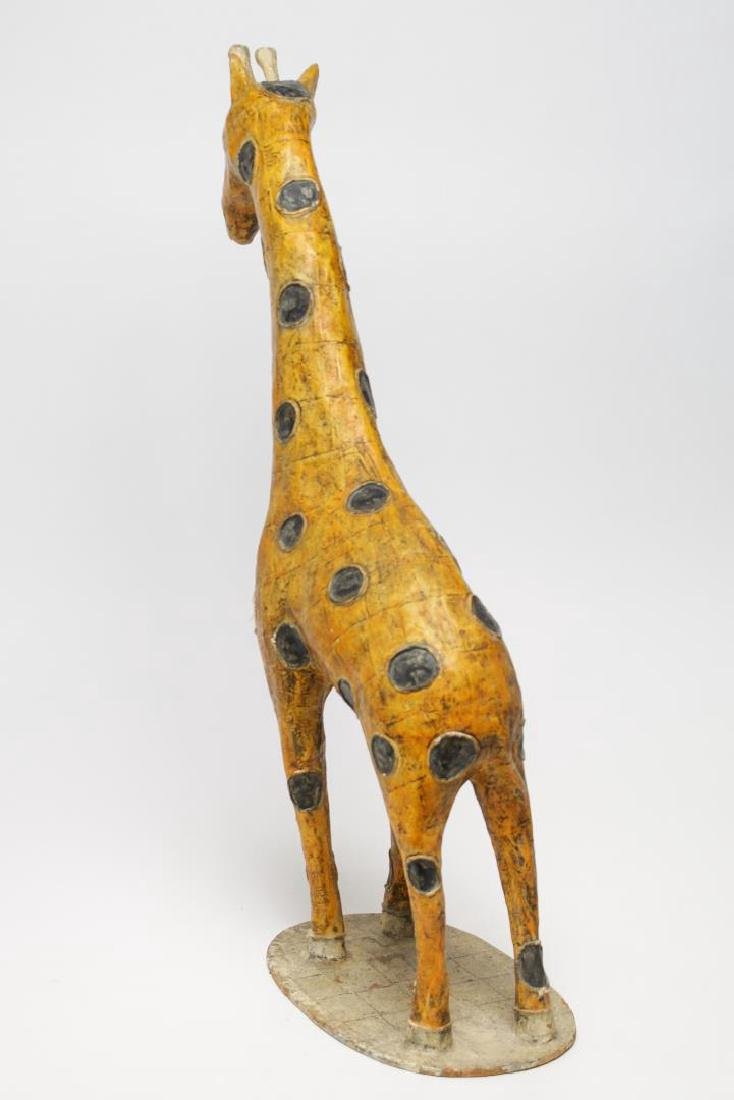 Large Mexican Papier Mache Giraffe Figure - 2