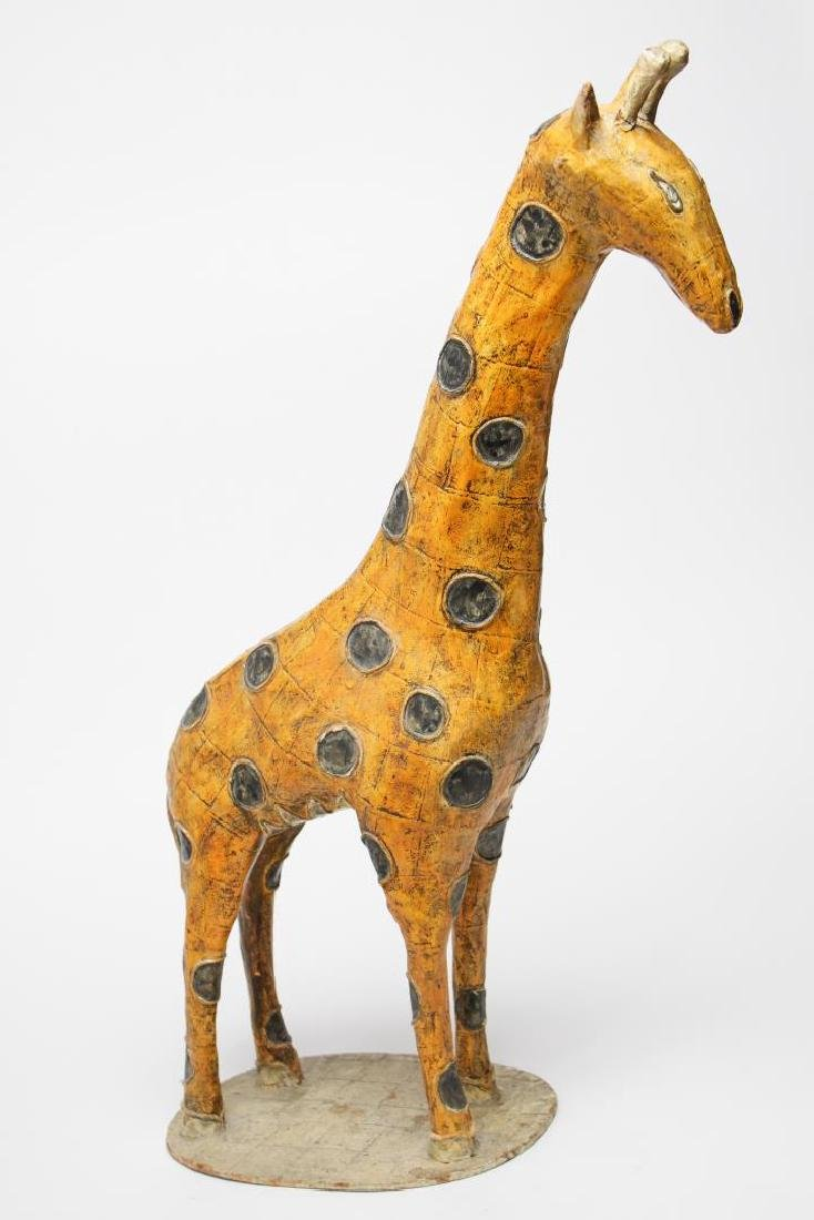 Large Mexican Papier Mache Giraffe Figure - 3