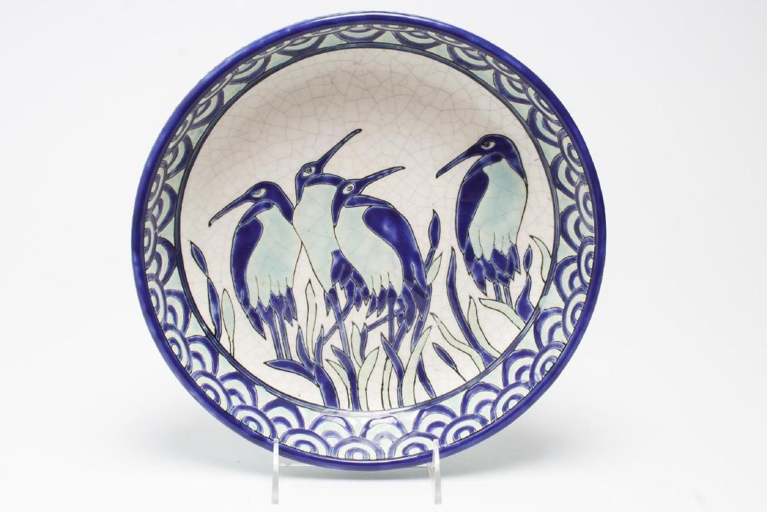 Keralouve La Louviere,Belgium Ceramic Bird Plate