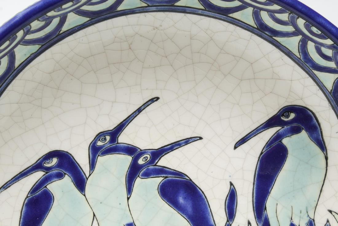 Keralouve La Louviere,Belgium Ceramic Bird Plate - 2