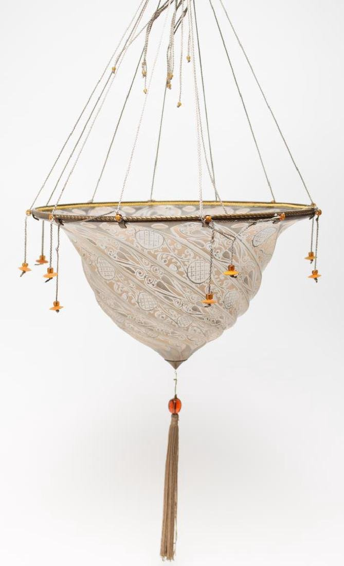 Fortuny Hanging Light Shade, in Hand-Painted Glass