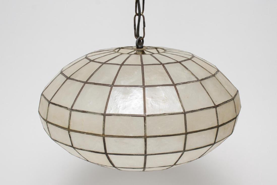 MCM Shell Hanging Round Pendant Light Fixture