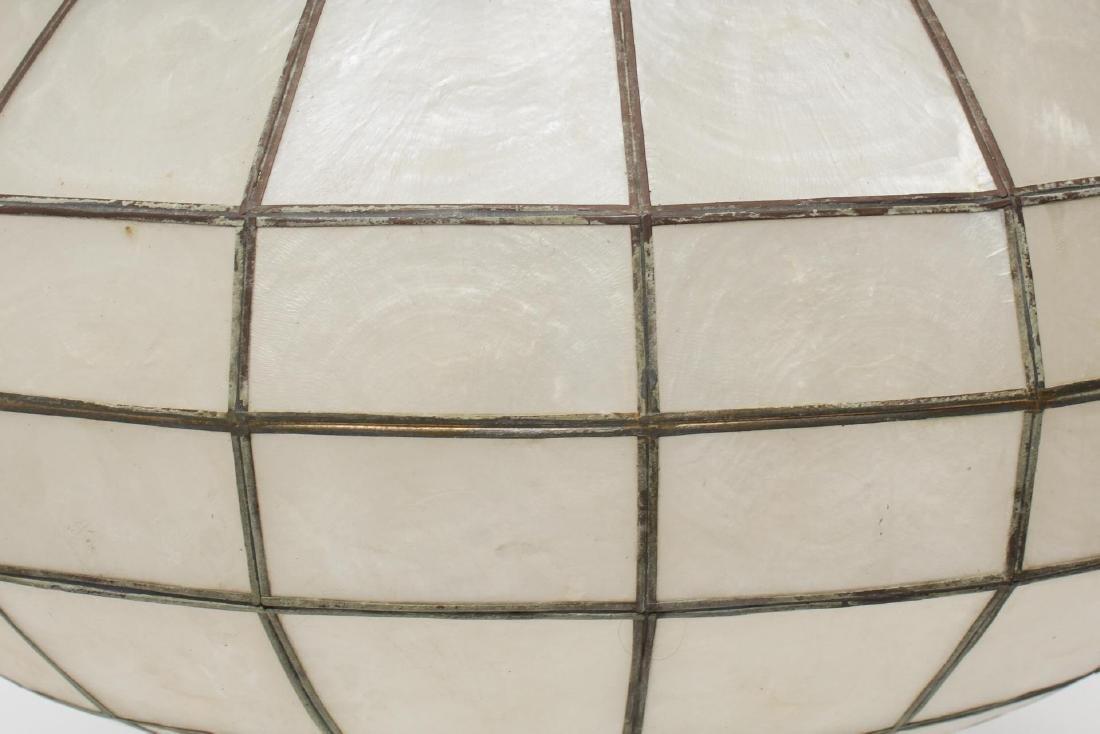 MCM Shell Hanging Round Pendant Light Fixture - 2