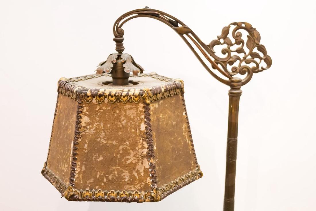 Art Nouveau Mica Shade Iron Standing Lamp - 4