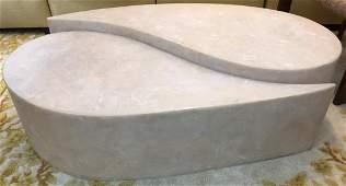 Faux Stone Yin & Yang Coffee Table