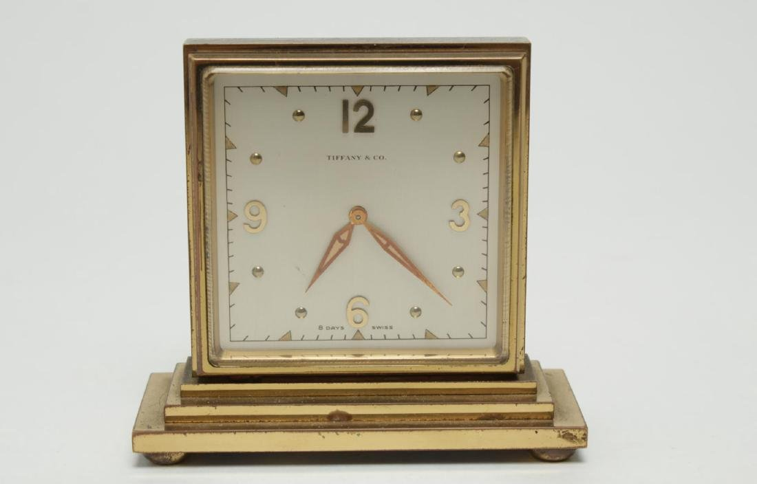 Vintage Tiffany & Co. Clock, Brass, Double-Sided